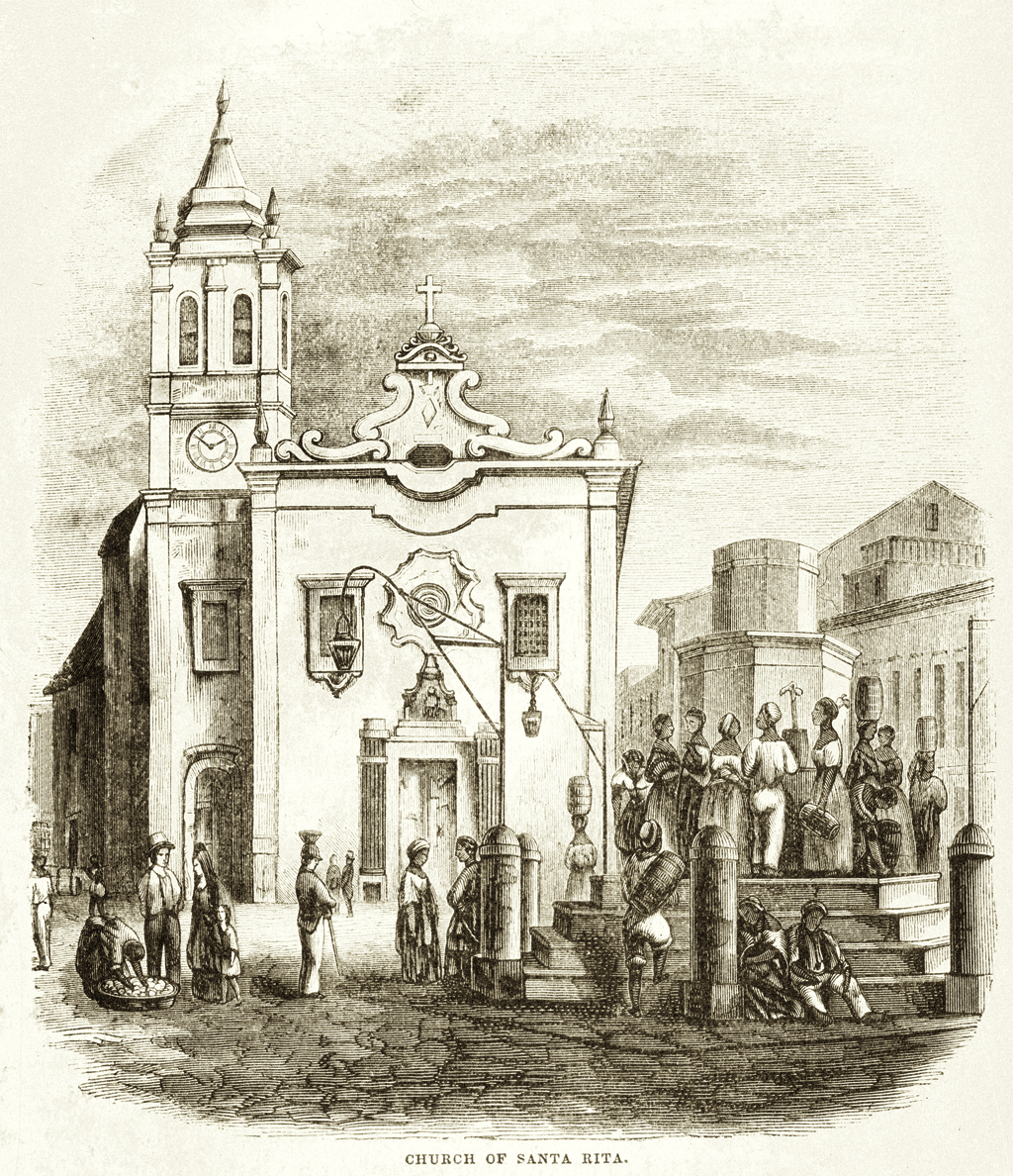 Igreja de Santa Rita. Em: Thomas Ewbank. Life in Brazil, or the land of the cocoa and the palm. London: Sampson Low, Son & Cia. New York: Harper and Brothers, 1856. OR 0357